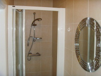 A shower room at Dani Hotel London