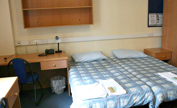 A typical double room at Bankside Apartments