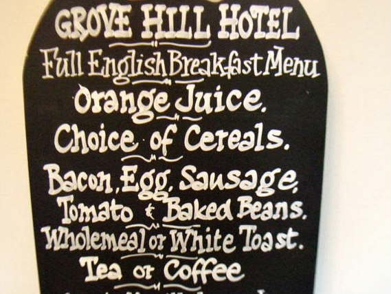 Enjoy a great breakfast at Grove Hill Hotel