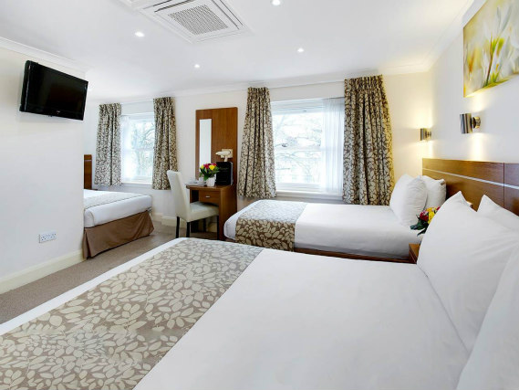 Family rooms at the Bayswater Inn are great value for money allowing you to spend more exploring London