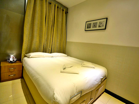 A typical double room at Apart Hotel 73