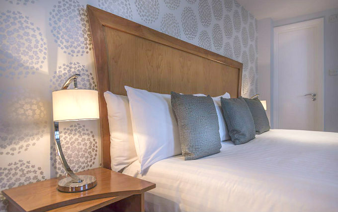 A comfortable double room at Corus Hyde Park Hotel