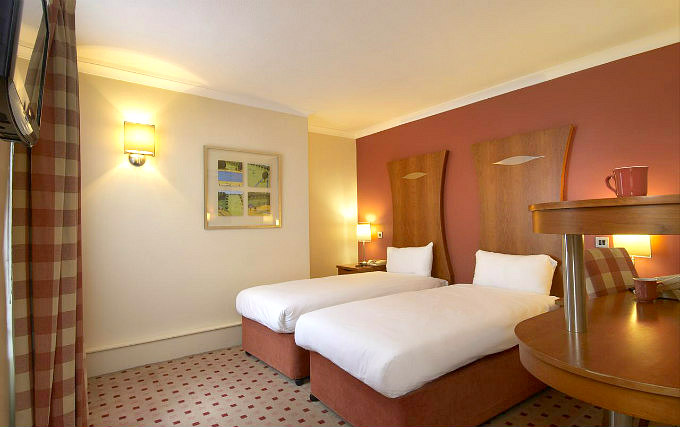A twin room at Corus Hyde Park Hotel