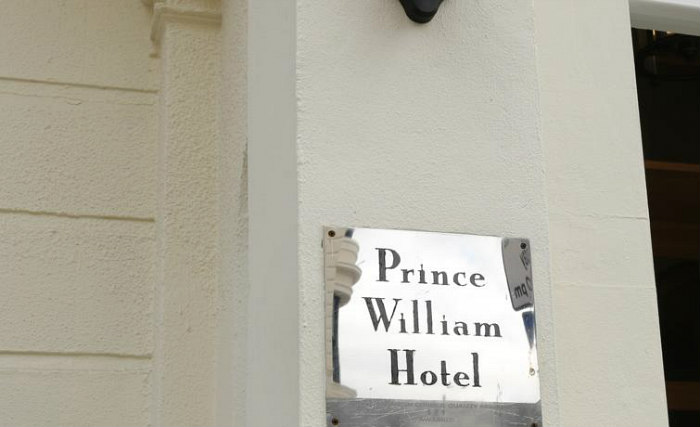 The exterior of Prince William Hotel