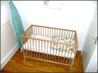 Cots can be provided for younger guests