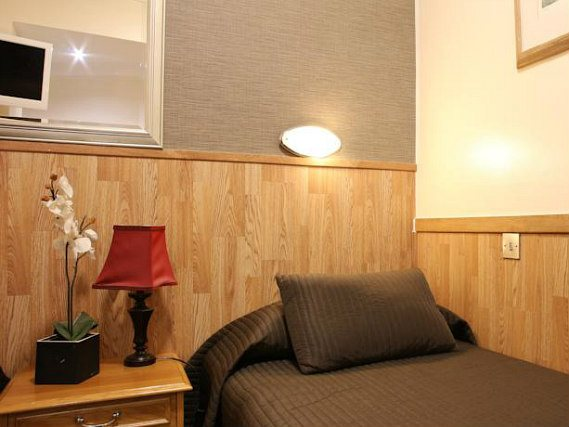 Single rooms at Huttons Hotel provide privacy