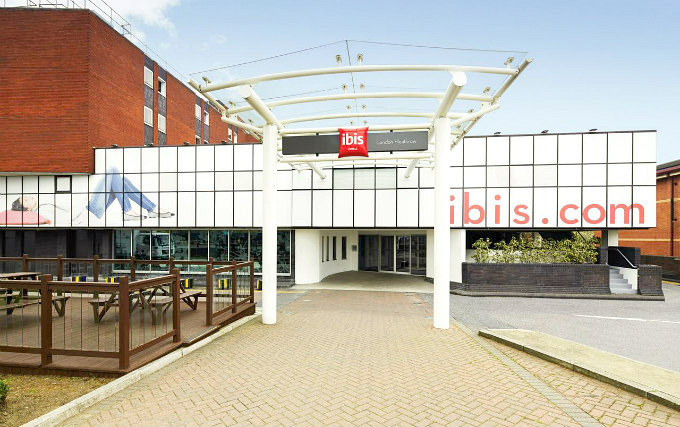 An exterior view of Ibis London Heathrow Airport