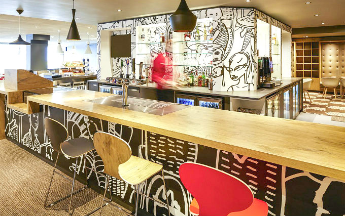 Bar at Ibis London Heathrow Airport