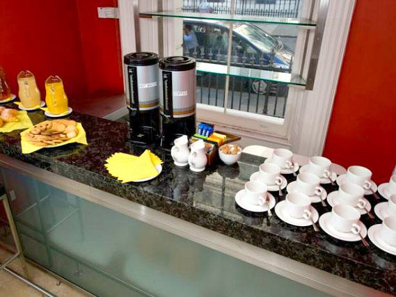 Get your day off to a great start with a continental breakfast at Kensington Rooms Hotel