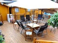 Catch a few rays and relax in the outdoor area of the Anchor House Hotel