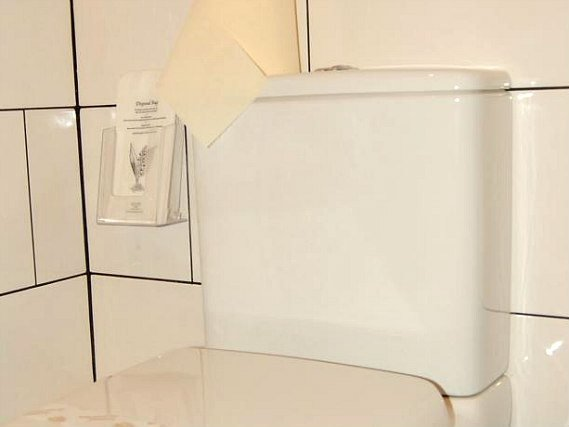 The bathroom facilities are modern and cleaned daily