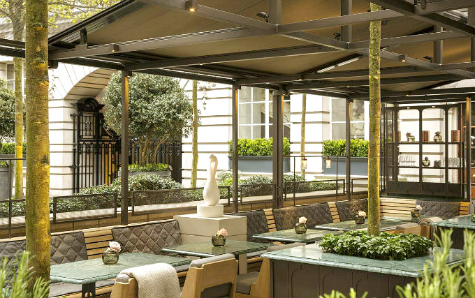 Relax and enjoy your meal in the Dining room at Rosewood London