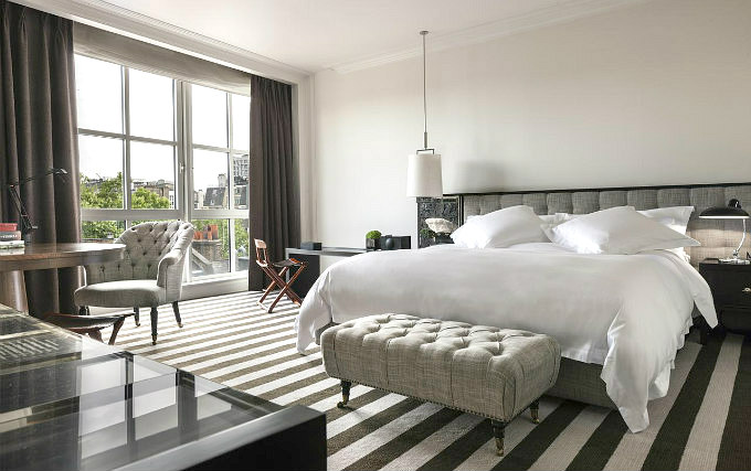 A typical double room at Rosewood London
