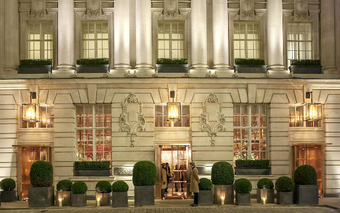 An exterior view of Rosewood London