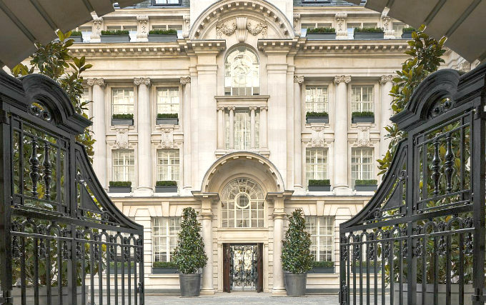 The exterior of Rosewood London