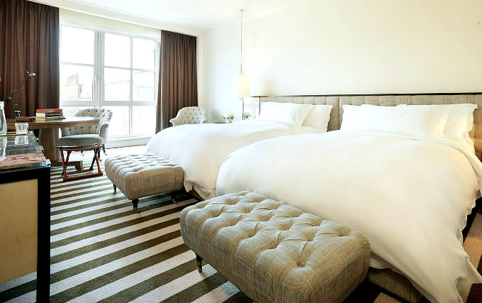 A typical triple room at Rosewood London