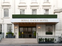 The entrance to Royal Eagle Hotel London