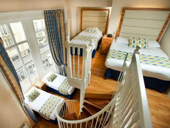 Family rooms at the Royal Eagle Hotel London are great value for money allowing you to spend more exploring London