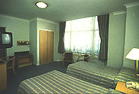 A typically spacious twin room