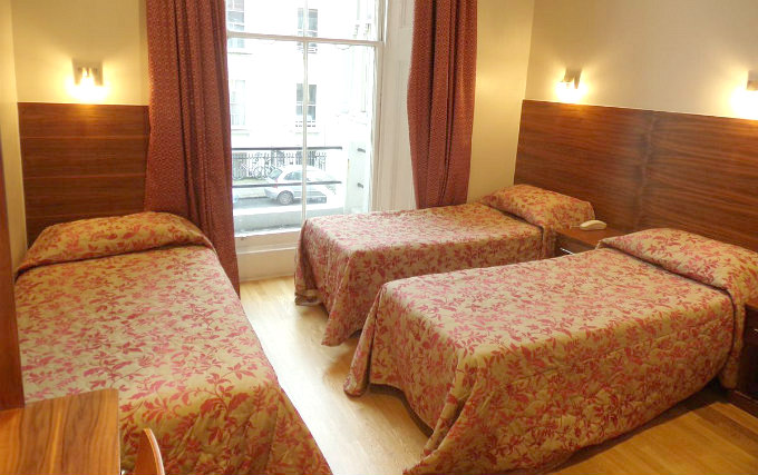Triple room at Wedgewood Hotel London
