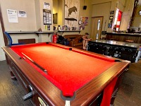 One of the pool tables at Journeys London Bridge Hostel