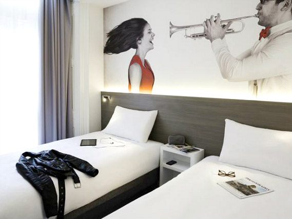 A twin room at Enterprise Hotel London is perfect for two guests