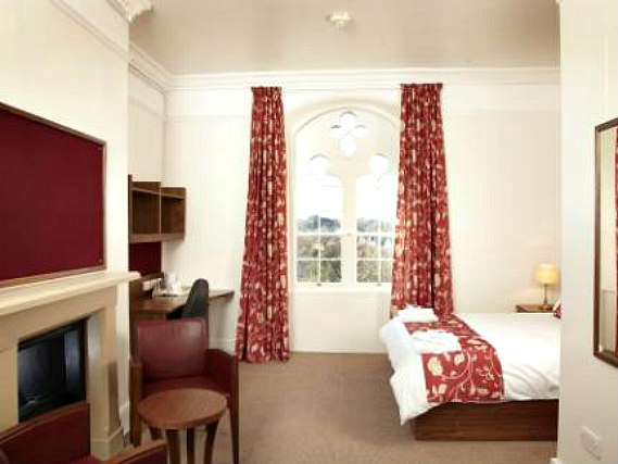 A typical double room at Durham Castle