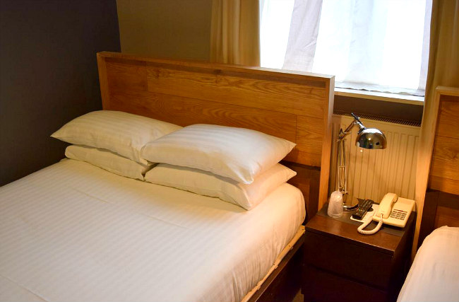 A typical double room at Griffin House Hotel