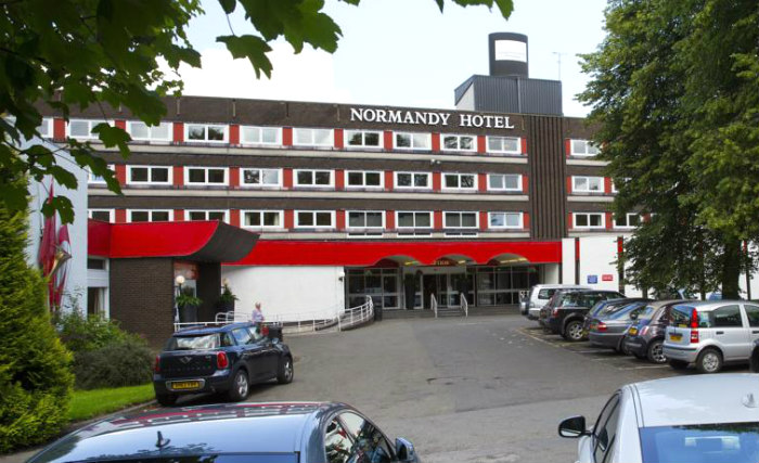 An exterior view of Normandy Hotel