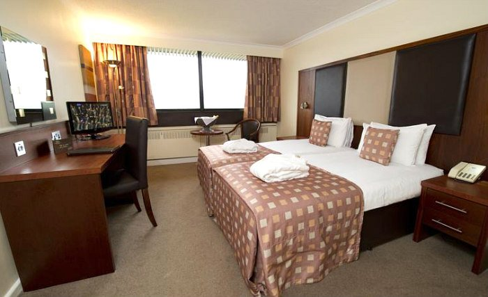 A twin room at Normandy Hotel is perfect for two guests