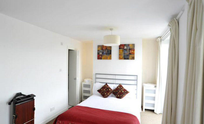 A double room at Riverview Apartments is perfect for a couple