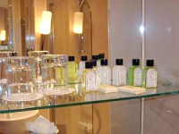Bathroom amenities at Shaftesbury Premier London Paddington Hotel