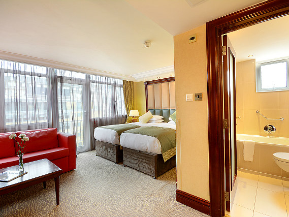 A twin room at Shaftesbury Premier London Paddington Hotel is perfect for two guests
