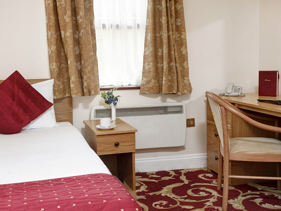 Single rooms at Best Western Ilford Hotel provide privacy