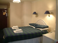 A typical double ensuite room at Charing Cross Hotel, Glasgow