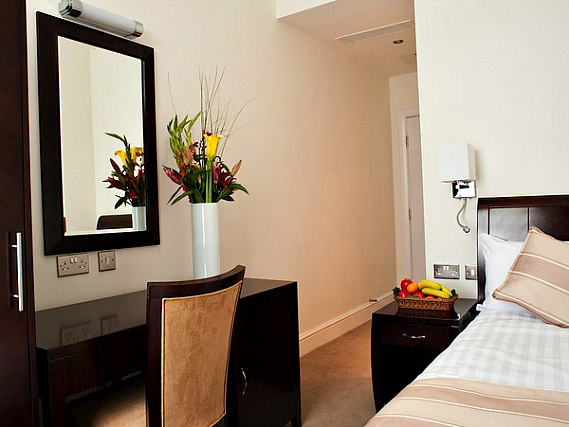 Single rooms at Abcone Hotel London provide privacy