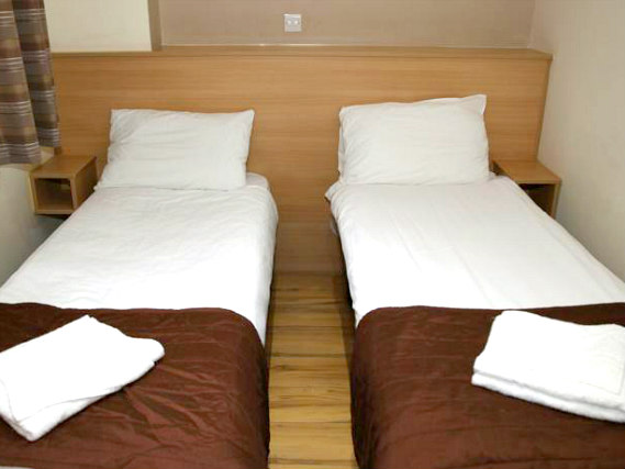 A twin room at Holland Court Hotel is perfect for two guests