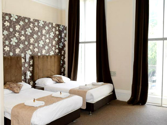 Quad rooms are great for friends and family sharing