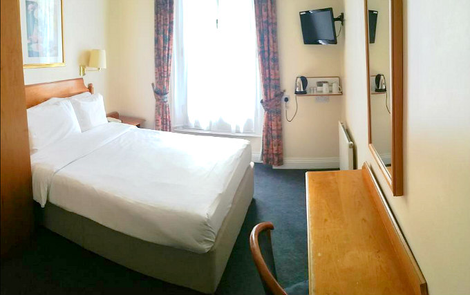 A double room at Victor Hotel London Victoria