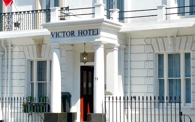 The exterior of Victor Hotel London Victoria