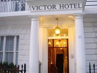 The classic London exterior of Victor Hotel - grand and inviting
