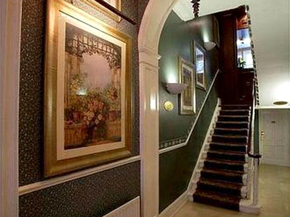 The hallway at Opulence Hotel London