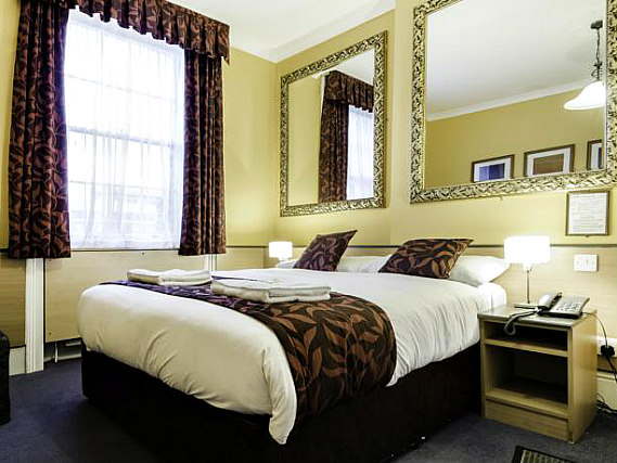 A double room at Tudor Court Hotel is perfect for a couple