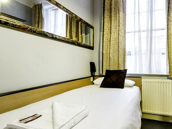 Single rooms at Tudor Court Hotel provide privacy