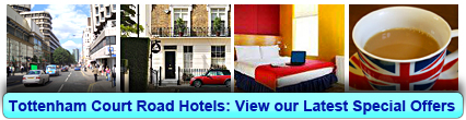 Tottenham Court Road Hotels: Book from only £15.00 per person!