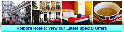 Holborn Hotels: Book from only £13.00 per person!