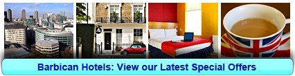 Barbican Hotels: Book from only £15.00 per person!