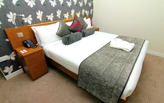 A comfortable double room at Ambassadors Hotel London