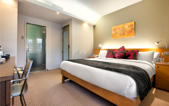 A double room at Ambassadors Hotel London
