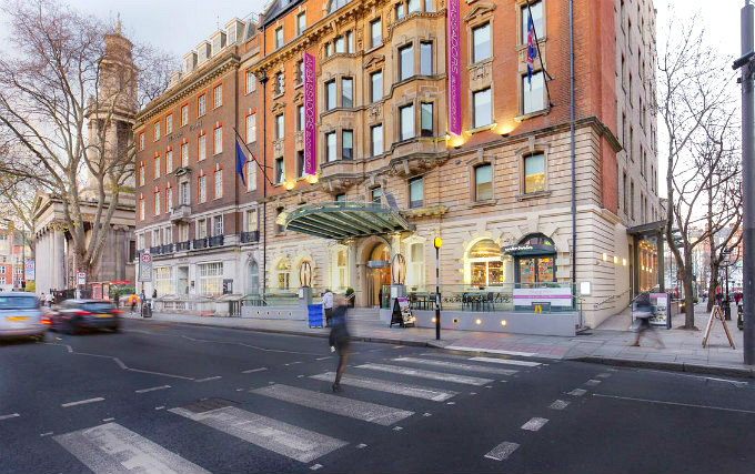 The exterior of Ambassadors Hotel London